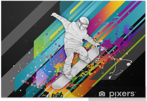 Poster Snowboarder -