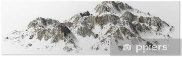 Poster __Snowy Montagnes - Sommet - séparé sur fond blanc - Paysages