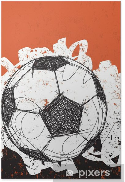 Soccer ball background Poster - Sports
