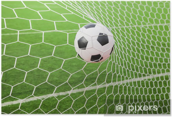 Soccer ball in the goal net Poster • Pixers® • We live to change a22f3643784a3