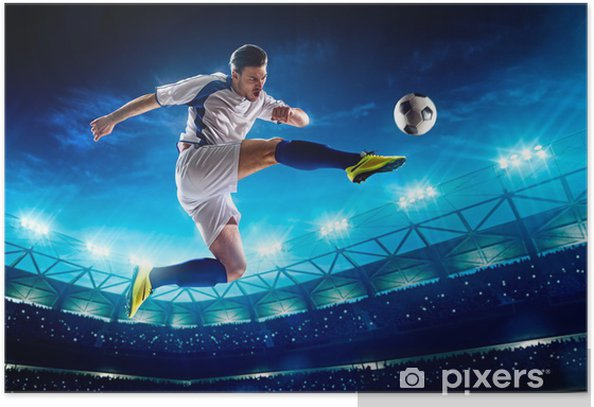 Soccer player in action Poster - Team Sports
