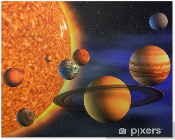 Póster Solar system - iStaging