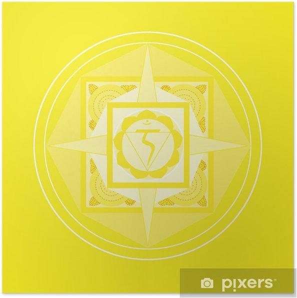 Poster Solarplexus-Chakra Mandala - Criteo