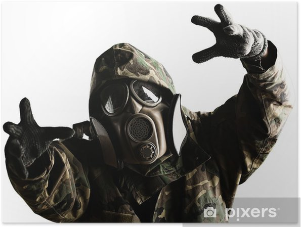 Póster Soldado con máscara - Temas