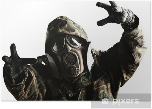 soldier with mask Poster - Themes