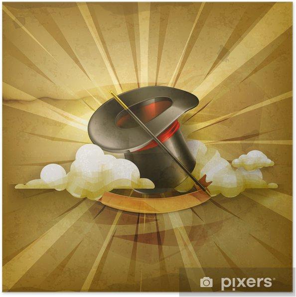 Póster Sombrero del cilindro mágico 4f53daed28b