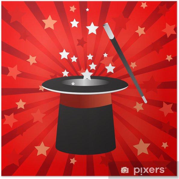 Póster Sombrero mágico. Vectorial. • Pixers® - Vivimos para cambiar b5c40462619