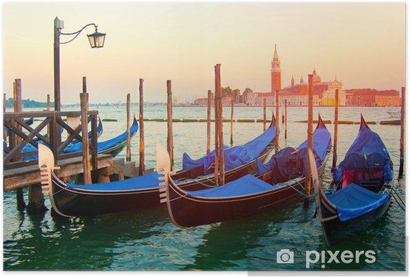 Poster Sonnenuntergang in Venedig - Villes européennes