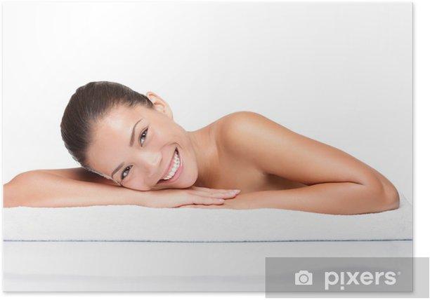 Poster Spa - femme beauté de la peau visage - Destin