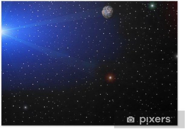 space panorama Poster - Art and Creation