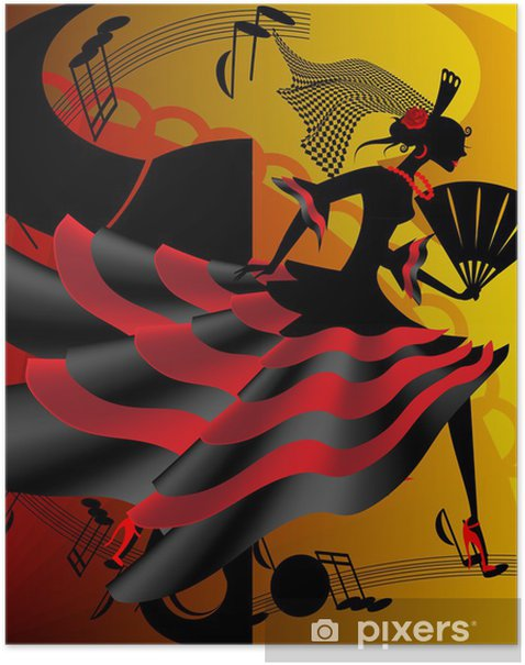 Spanish dance Poster - Themes