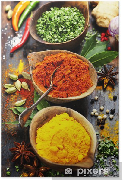 Spices and herbs Poster - Culinary