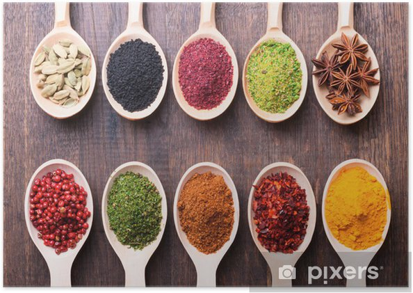 Poster Spices - Thema's