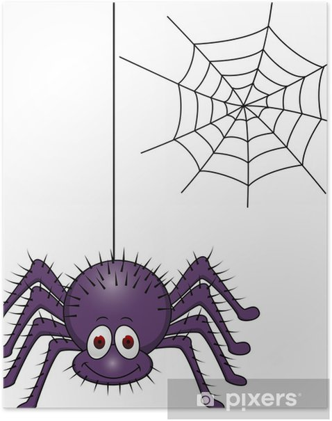 Spider cartoon Poster - Other Other