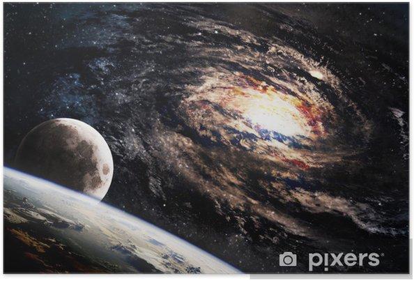 Poster Spiraalvormig sterrenstelsel ergens in de ruimte - Heelal