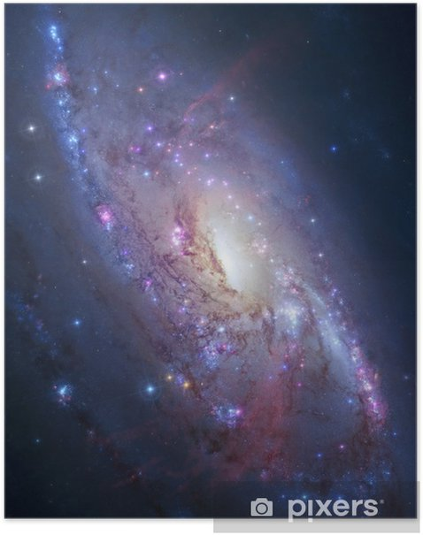 Spiral galaxy in deep space. Elements of image furnished by NASA Poster - Universe