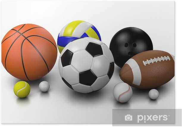 Sports Balls Poster Pixers We Live To Change