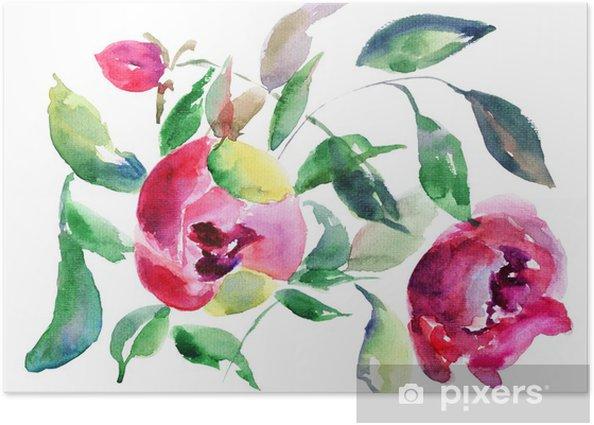 Spring Peony flowers Poster - Flowers