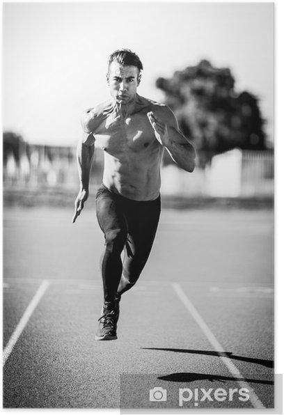 Sprinter man Poster - Sports
