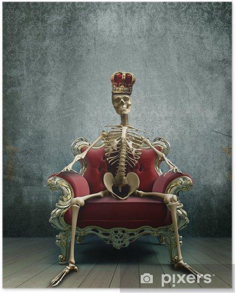 Poster Squelette roi - Matières premières