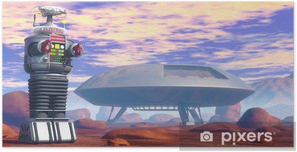 Poster Srobot et vaisseau spatial - Temps