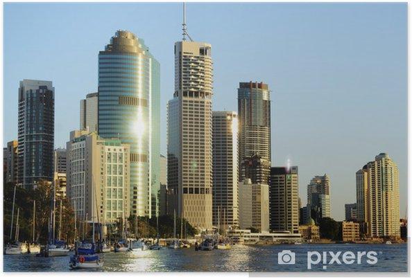 Poster Stad van Brisbane Australië - Vakantie