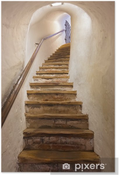 Stairs in Castle Kufstein - Austria Poster - Styles