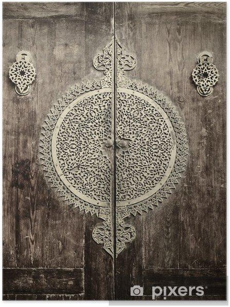 Poster Stäng-up bild av gamla dörrar - iStaging