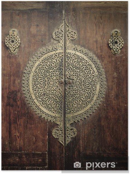 Poster Stäng-up bild av gamla dörrar - Mellanöstern