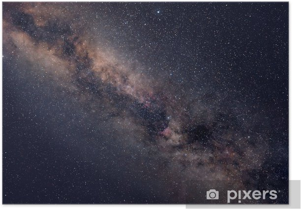 Starry night sky Poster - Universe