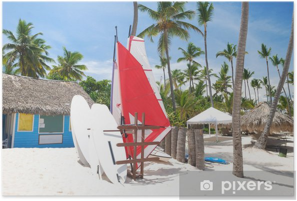 Poster Station de Surf - Vacances