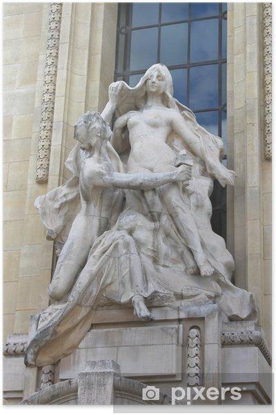 Poster Statue à Petit Palais. Paris. France - Villes européennes