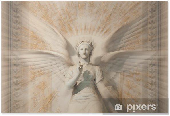 Poster Statue de la femme ange. - Thèmes