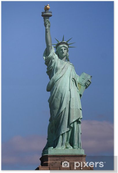 Poster Statue de la Liberté sur le stand - Amérique