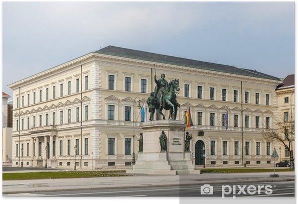 Poster Statue de Louis Ier - Munich, Bavière, Allemagne - Europe