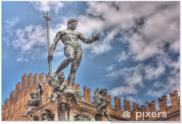 Poster Statue de Neptune - Europe