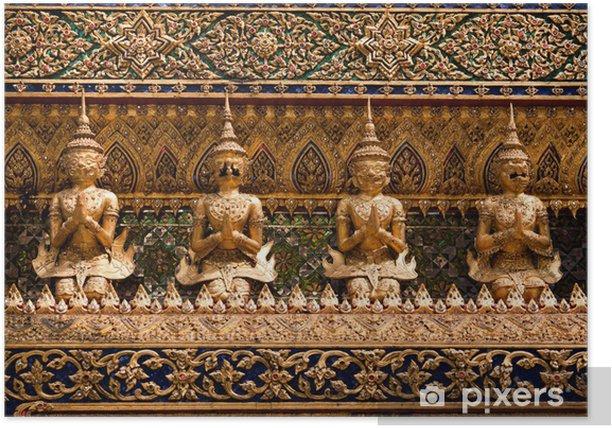 statue divinité asiatique, Bangkok, Thaïlande Poster - Asia