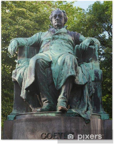 Poster Statue du célèbre poète allemand Goethe à Vienne - Villes européennes