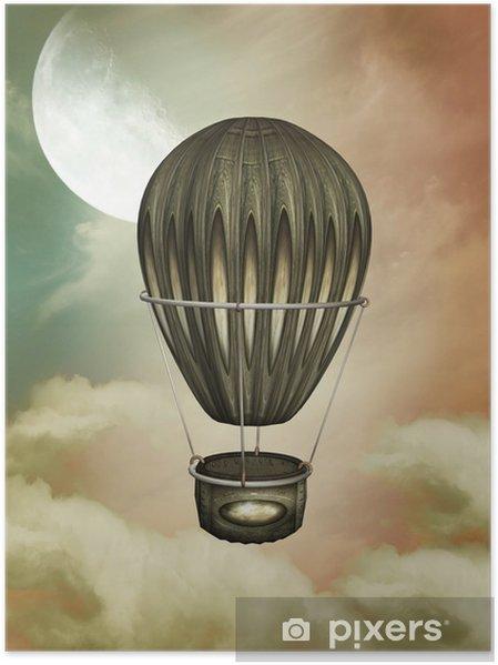 Poster Steampuk ballon - Merveilles naturelles