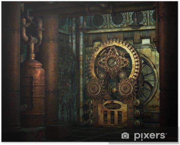 Poster Steampunk Raderwerk - steampunk