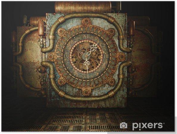 Poster Steampunk tijd - steampunk