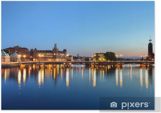 Poster Stockholm Cityscape - Monuments