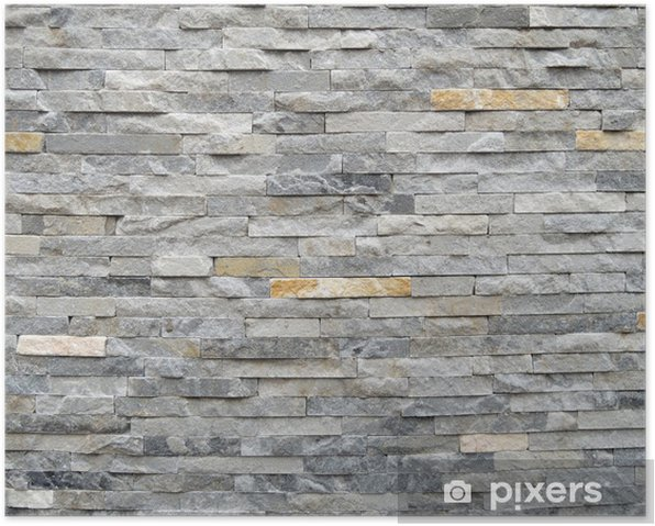 Stone wall texture background Poster - Styles