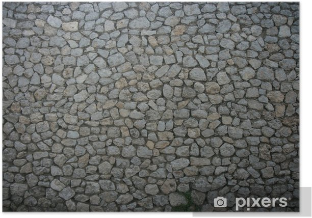 Poster Stone wall texture - Europe