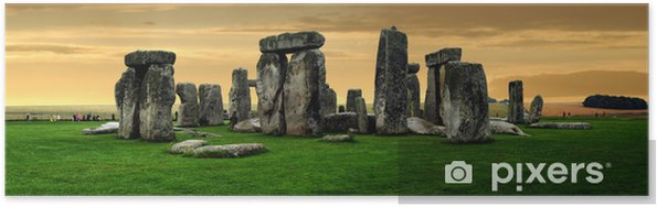 Poster Stonehenge ruines - Europe