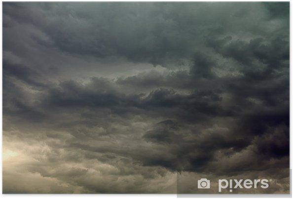 Poster Stormachtige wolken - Hemel