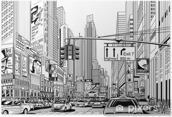 Poster Straat in New York city - Stedelijk