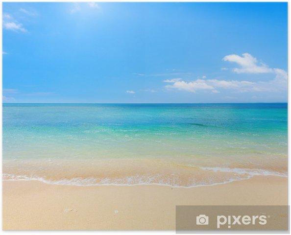 Poster Strand en tropische zee - Strand en de tropen