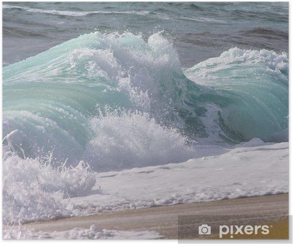 Poster Strand mit Wellen - plage avec des vagues 11 - Vacances