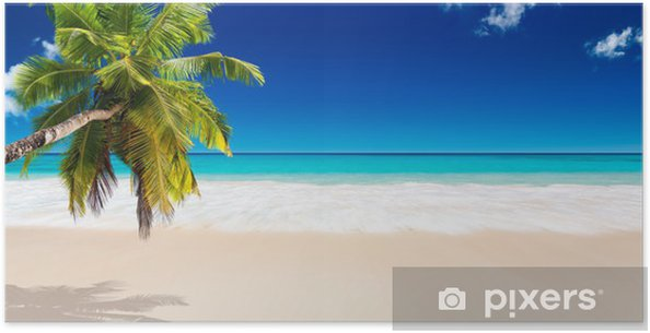 Poster Strand Seychellen - Bestemmingen